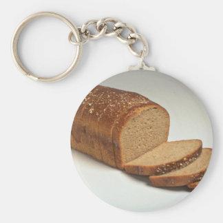 Pan cortado delicioso del trigo llavero redondo tipo pin