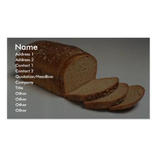 Pan cortado delicioso del trigo tarjetas de visita
