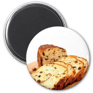 Pan de canela de la pasa imán redondo 5 cm
