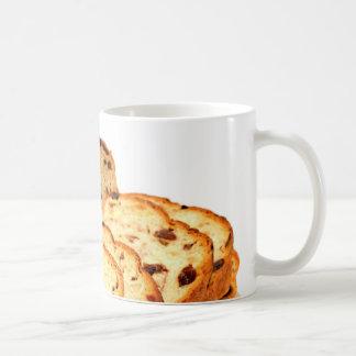 Pan de canela de la pasa taza