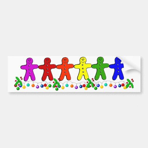 Pan de jengibre del arco iris etiqueta de parachoque