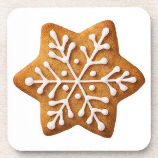 Pan de jengibre del navidad de la forma de la estr posavaso