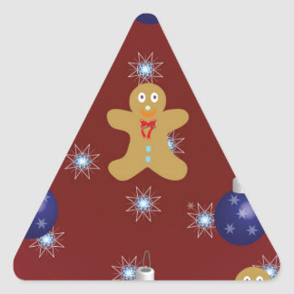 Pan de jengibre del navidad pegatina triangular