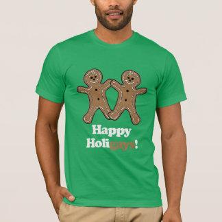 Pan de jengibre feliz de Holigays Playera