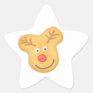 Pan de jengibre pegatina en forma de estrella