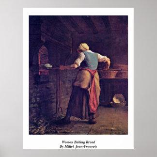 Pan de la hornada de la mujer por el mijo (ii) póster