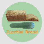 Pan del calabacín etiquetas redondas