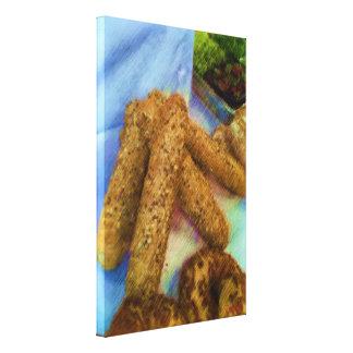 Pan del dibujo de la foto impresion de lienzo