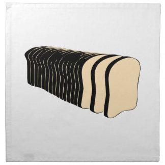 Pan del pan cortado servilleta imprimida