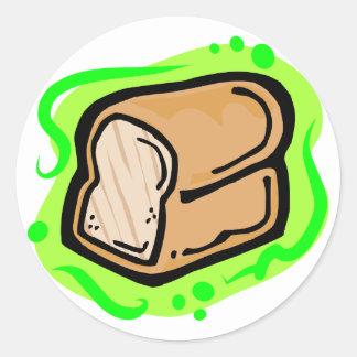 Pan del pan etiquetas redondas