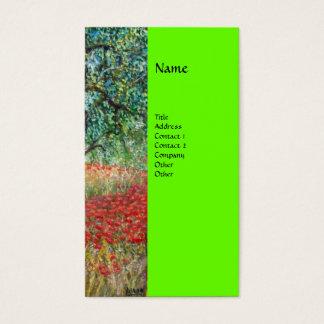 PAN detail monogram green Business Card