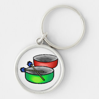 pan drums with mallets music percussion.png keychain