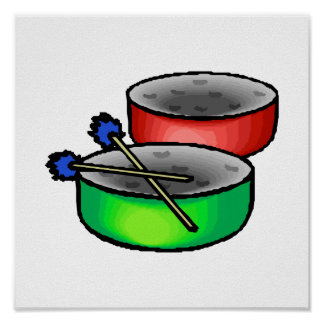 pan drums with mallets music percussion.png poster