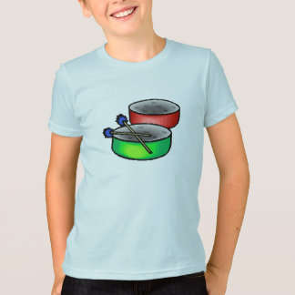 pan drums with mallets music percussion.png T-Shirt
