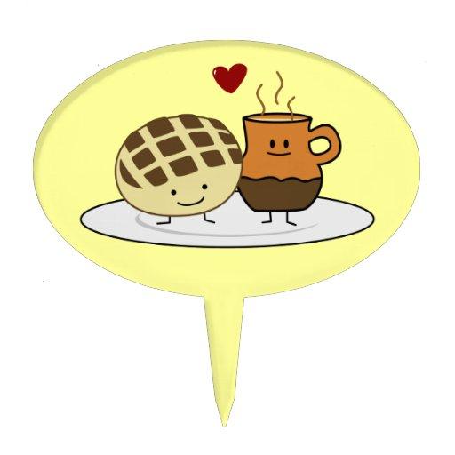 Pan dulce y chocolate caliente palillos de tarta