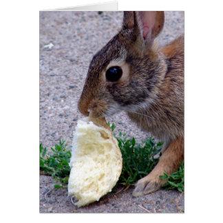 Pan encontrado conejito tarjeta de felicitación