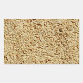 Pan entero del grano pegatina rectangular