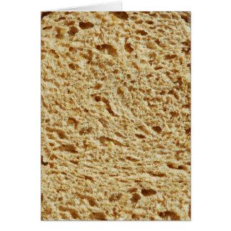 Pan entero del grano tarjeta de felicitación