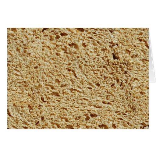 Pan entero del grano tarjeton