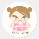 pan female body lmfo classic round sticker