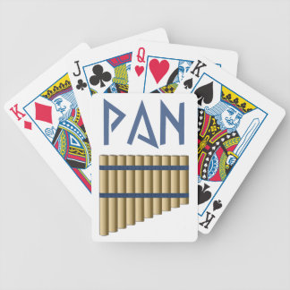 Pan flute floods bicycle playing cards