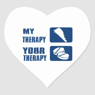 Pan flute is my therapy heart stickers