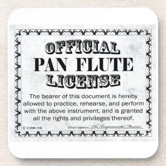 Pan Flute License Coaster