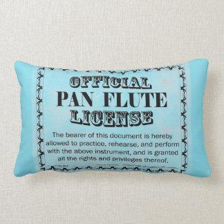 Pan Flute License Lumbar Pillow