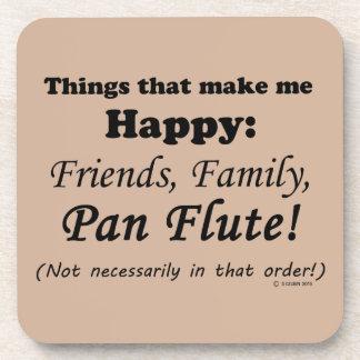 Pan Flute Makes Me Happy Drink Coaster