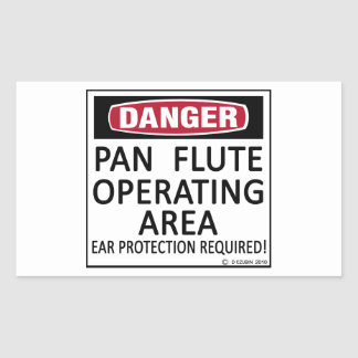 Pan Flute Operating Area Rectangular Sticker