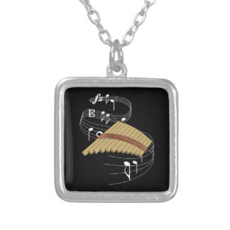 Pan Flute Silver Plated Necklace