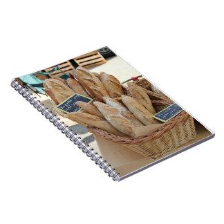 Pan francés por ProvenceProvence Spiral Notebooks