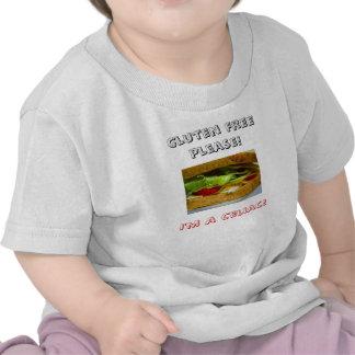 ¡Pan, gluten libre por favor! ¡, Soy un celiaco! Camisetas