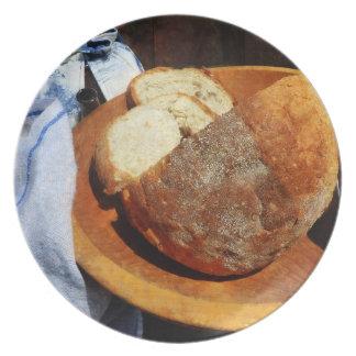 Pan hecho en casa plato para fiesta