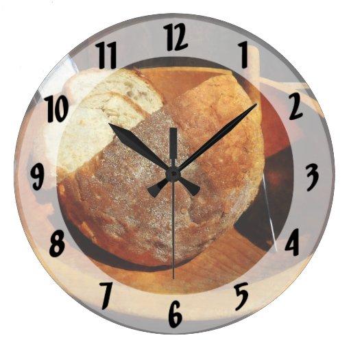 Pan hecho en casa reloj