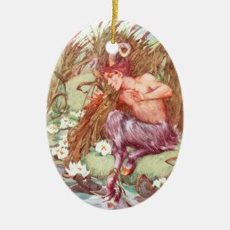 Pan - IN THE REEDS - 2 Ceramic Ornament