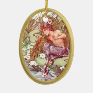Pan - IN THE REEDS - 3 Ceramic Ornament
