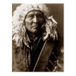 Pan, indio del nativo americano de Apsaroke Tarjeta Postal