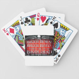 pan llevado motorista del motorista baraja cartas de poker