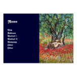 PAN, OLIVE TREE AND POPPY FIELDS BUSINESS CARD TEMPLATES