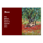 PAN, OLIVE TREE AND POPPY FIELDS BUSINESS CARD TEMPLATE