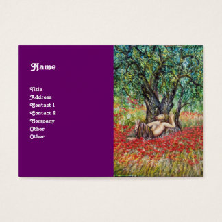 PAN, OLIVE TREE AND POPPY FIELDS BUSINESS CARD