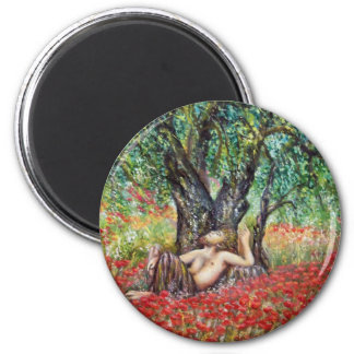 PAN, OLIVE TREE AND POPPY FIELDS MAGNET