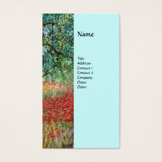 PAN,OLIVE TREE AND POPPY FIELDS monogram,blue Business Card