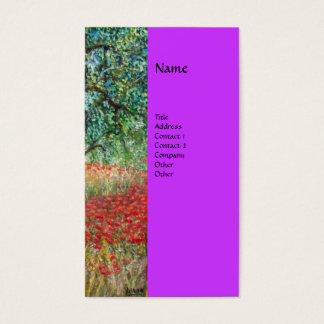 PAN,OLIVE TREE AND POPPY FIELDS monogram Business Card