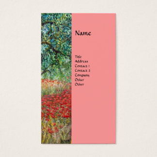 PAN,OLIVE TREE AND POPPY FIELDS monogram,pink Business Card