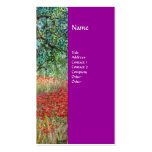 PAN,OLIVE TREE AND POPPY FIELDS monogram,purple Business Cards