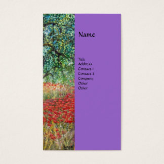 PAN,OLIVE TREE AND POPPY FIELDS monogram,purple Business Card