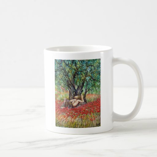 PAN, OLIVE TREE AND POPPY FIELDS MUGS