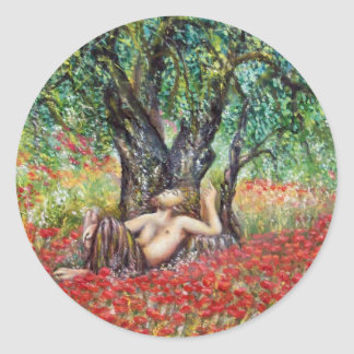 PAN, OLIVE TREE AND POPPY FIELDS STICKERS